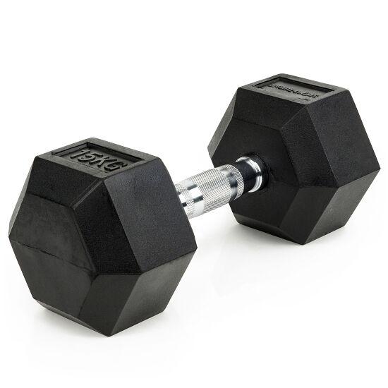 Sport-Thieme® Compacte Halter Rubber Hex 15 kg