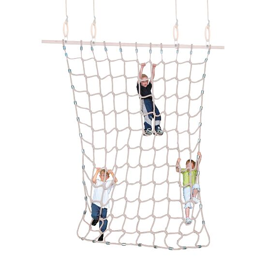 Sport-Thieme Filet d'escalade Fibre discontinue souple, couleurs naturelles, 3x2,5 m