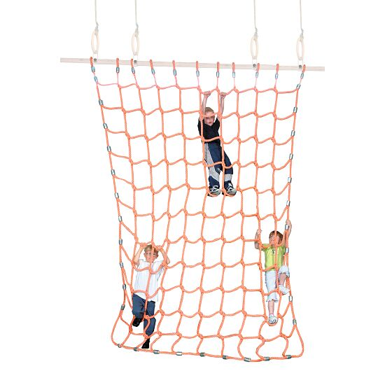 Sport-Thieme Filet d'escalade Polypropylène, orange, 2x2 m