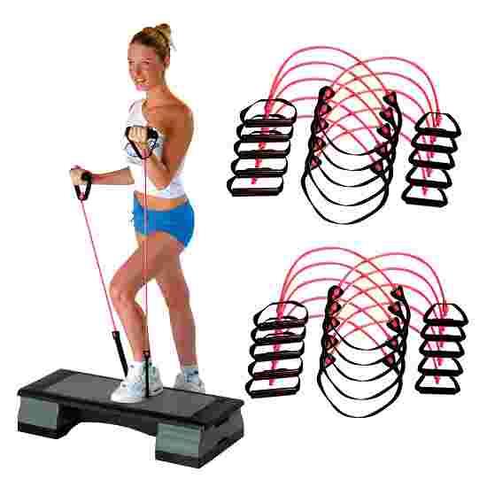 Sport-Thieme Fitness-Step-Tube 10-delige set Roze = medium