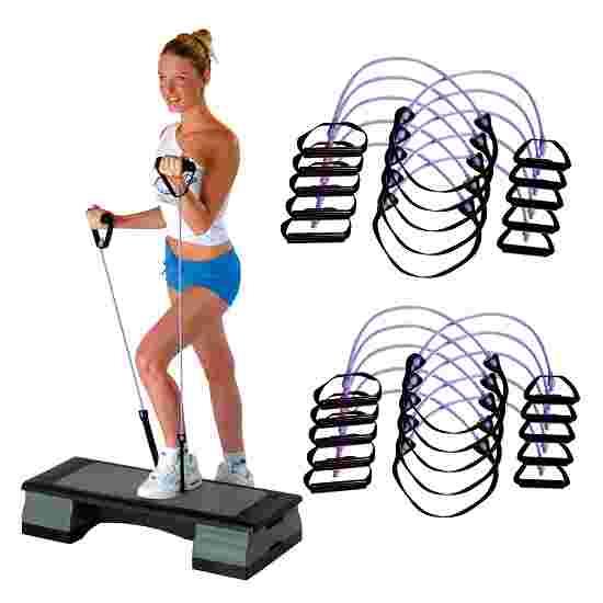 Sport-Thieme Fitness-Step-Tube 10-delige set Violet = sterk