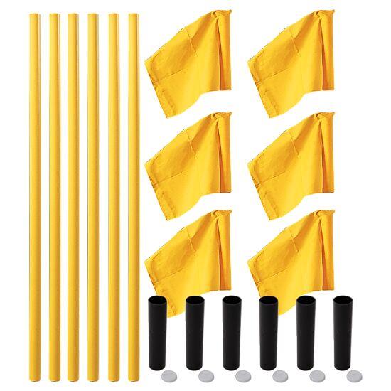 """Sport-Thieme® Grenspalen-Set """"Allround"""" Paal geel, vlag neon geel"""