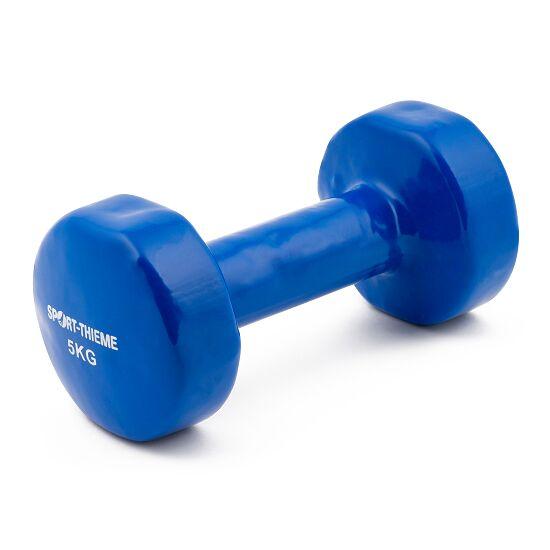 Sport-Thieme Haltère court en vinyle 5 kg, bleu