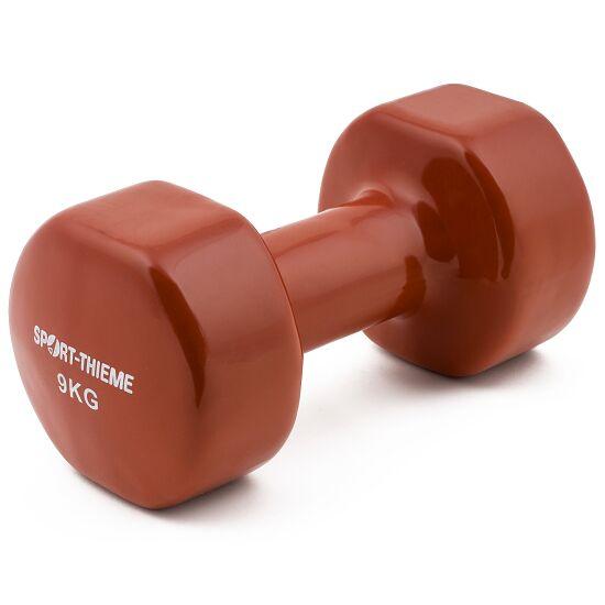 Sport-Thieme Haltère court en vinyle 9 kg, marron