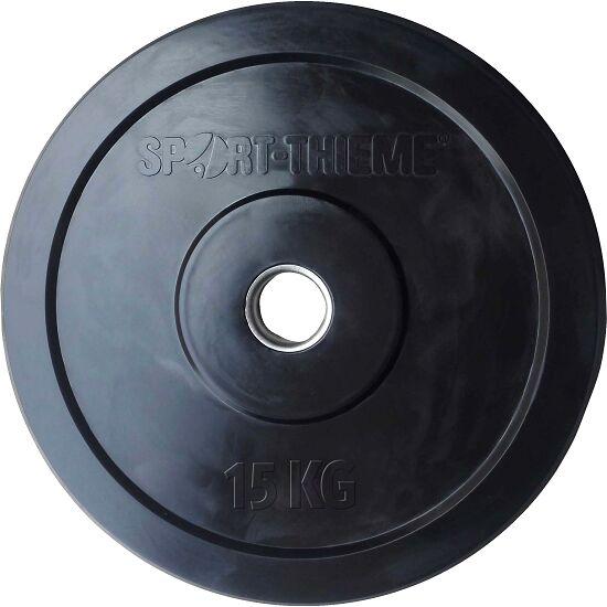 "Sport-Thieme Halterschijven ""Bumper Plate"", zwart 15 kg"