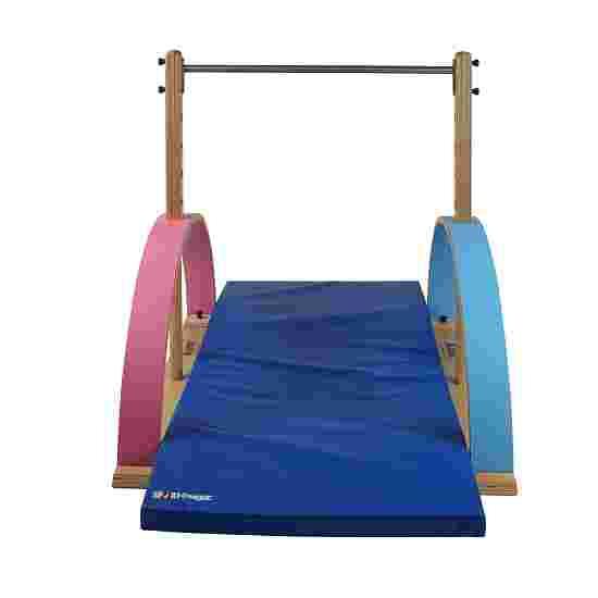 """Sport-Thieme Kinderbar """"Kirec"""" Roze-blauw, Met valmatten"""