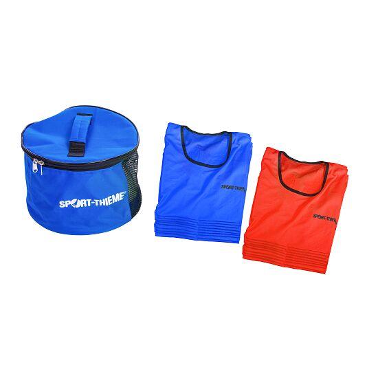 Sport-Thieme Kit de chasubles « Stretch Premium » Jeunes, rouge/bleu