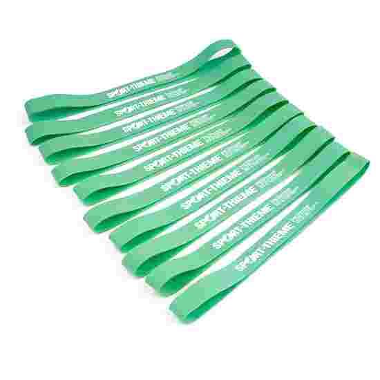 Sport-Thieme Lot de 10 bandes en caoutchouc Vert, facile