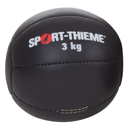 "Sport-Thieme® Medicinebal ""Zwart"" 3 kg, ø 22 cm"