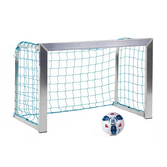 Sport-Thieme® Minitraining doel, met opvouwbare netbeugels 1,20x0,80 m, diepte 0,70 m, Incl. net, blauw (mw 10 cm)