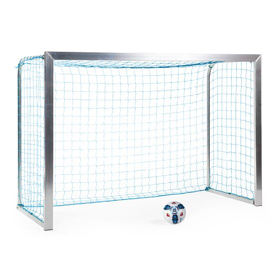 Sport-Thieme® Minitraining doel, met opvouwbare netbeugels 2,40x1,60 m, diepte 1,00 m, Incl. net, blauw (mw 4,5 cm)