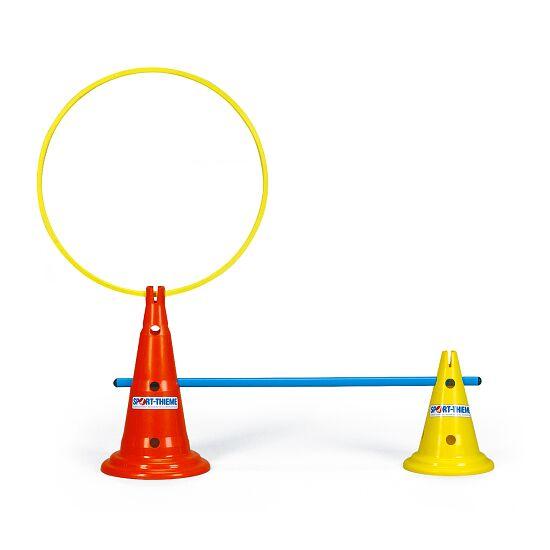 Sport-Thieme Multifunctionele kegels Geel, 30 cm, 8 gaten