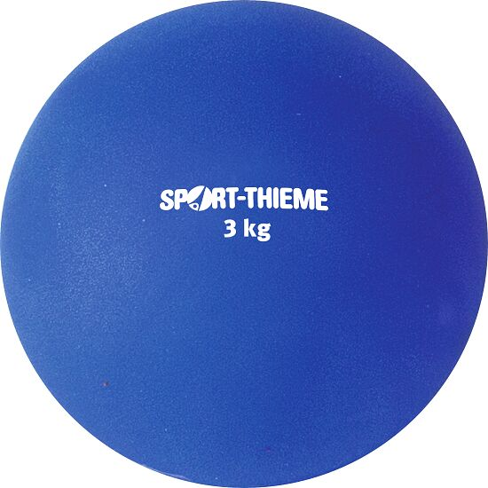 Sport-Thieme® Stootkogel van kunststof 3 kg, blauw, ø 121 mm