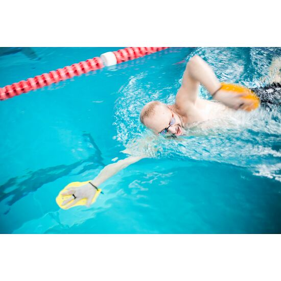 Sport-Thieme® Swim-Power® Paddles Maat M, 21x18 cm, geel