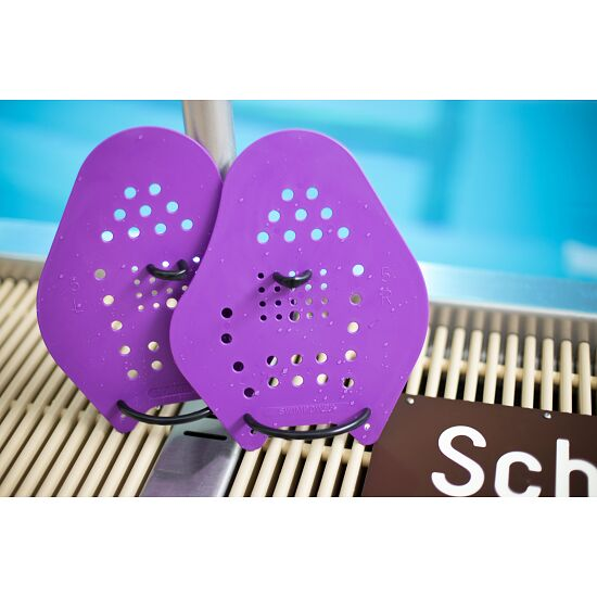 Sport-Thieme® Swim-Power® Paddles Maat  XXL, 26x21 cm, paars