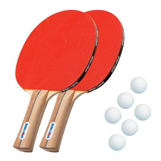 """Sport-Thieme® Tafeltennisbat-Set """"Rom"""" Witte balletjes"""