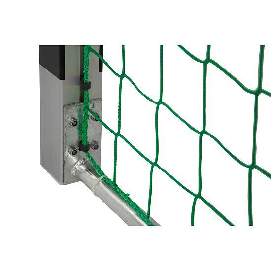 Sport-Thieme® Zaalhandbaldoel 3x2 m, in grondbussen Vastgeschroefde hoekverbindingen, Zwart-zilver