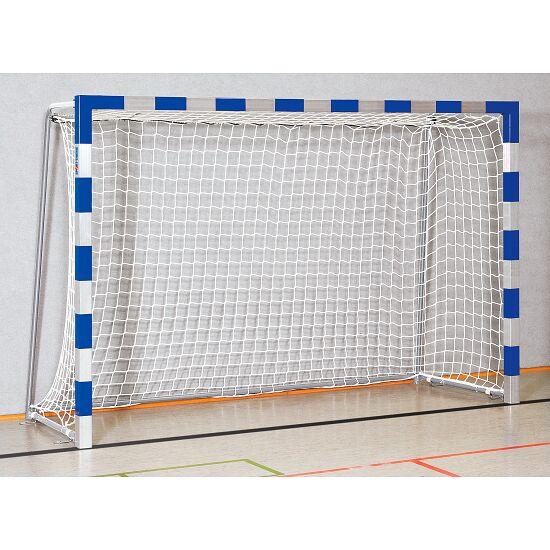 Sport-Thieme® Zaalhandbaldoel 3x2 m, in grondbussen Vastgeschroefde hoekverbindingen, Blauw-zilver