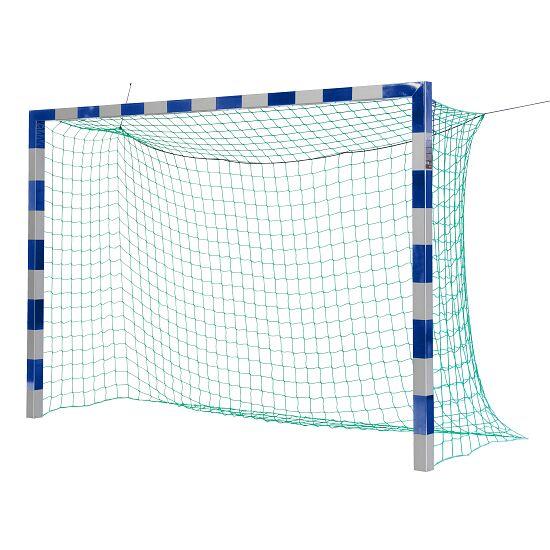 Sport-Thieme® Zaalhandbaldoel 3x2m, in grondbussen staand Zonder netbeugel, Blauw-zilver