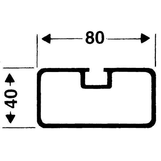 Système d'ancrage de sécurité 80x40 mm Profilé rectangulaire 80x40 mm
