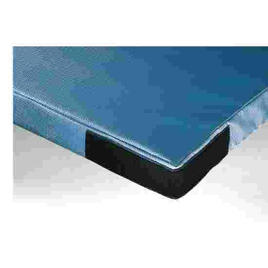 Tapis de gymnastique Sport-Thieme « Spécial », 200x100x6 cm Basique, Tissu de tapis de gymnastique bleu