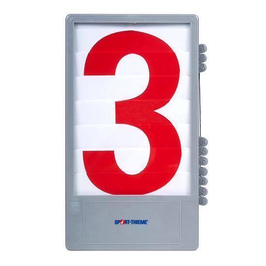 Trenas Cijfercassette voor manuele scoreborden Rood