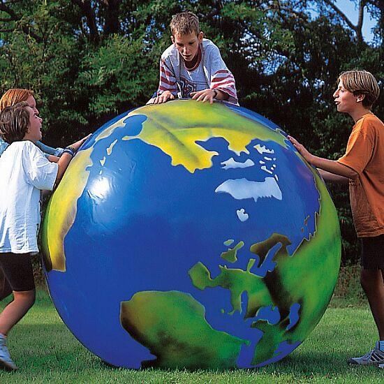 Wereldbal met continentenopdruk ø 100 cm, 3,4 kg