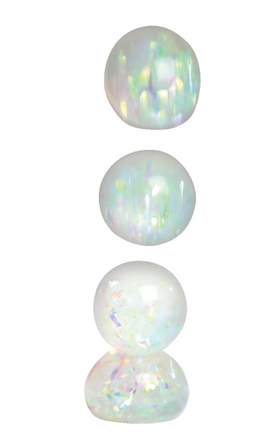 Balle diamant arc-en-ciel lot de 6