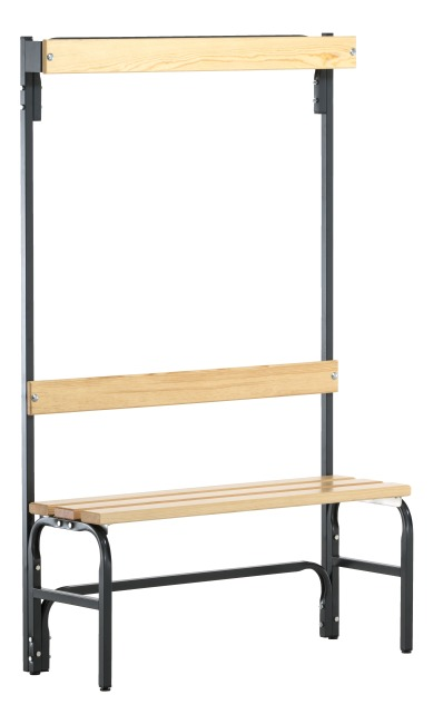Banc de vestiaire Sypro Wolf® pour espaces secs avec dossier 1,01 m, Sans grille à chaussures