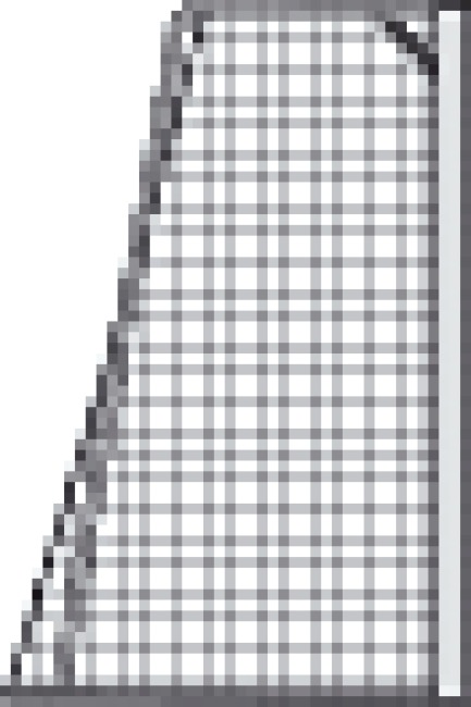 Filet sans nœuds pour but en football junior 515x205 cm Vert-blanc