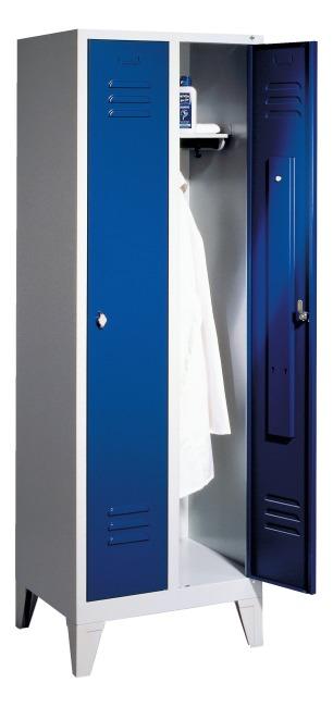 Garderobekast met 150 mm hoge poten 1850x610x500 mm /2 vakken, 300 mm
