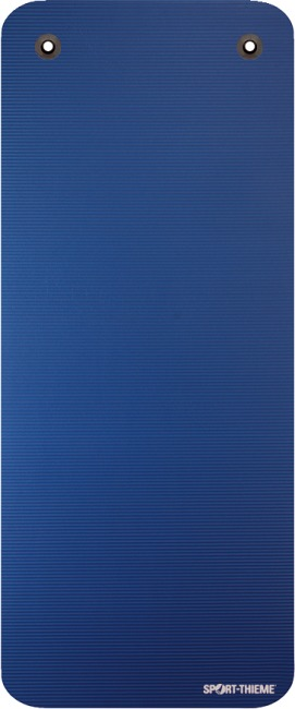 Natte de gymnastique Sport-Thieme® « Gym 15 » Avec œillets, Bleu