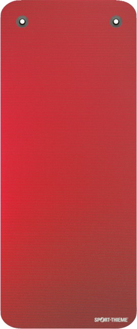 Natte de gymnastique Sport-Thieme® « Gym 15 » Avec œillets, Rouge