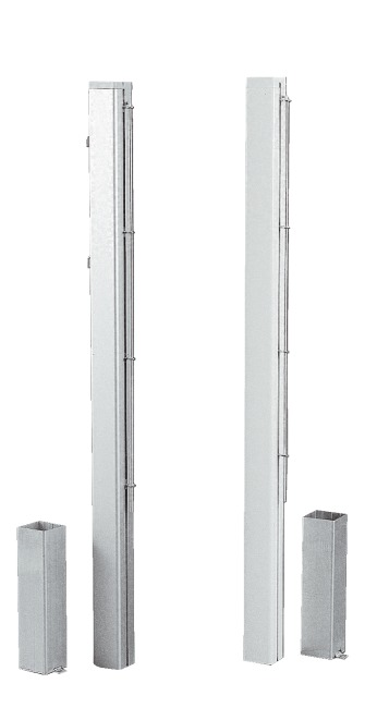 Poteaux de tennis carrés 80x80 mm, aluminium