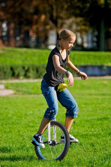 """Qu-Ax® outdoor éénwieler """"Luxus"""" 20 inch wiel (ø 51 cm), chroom kader"""