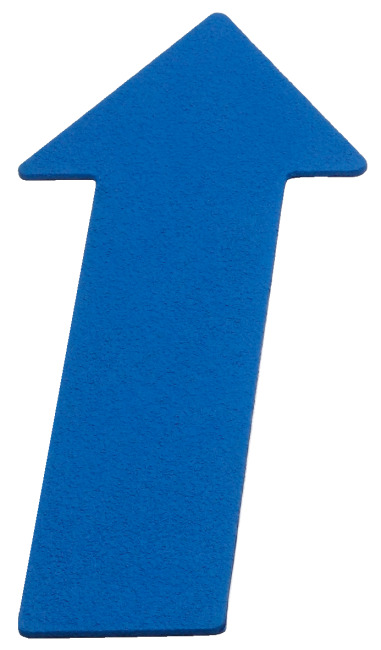 Sport-Thieme Bodemmarkering Pijl, 35 cm, Blauw