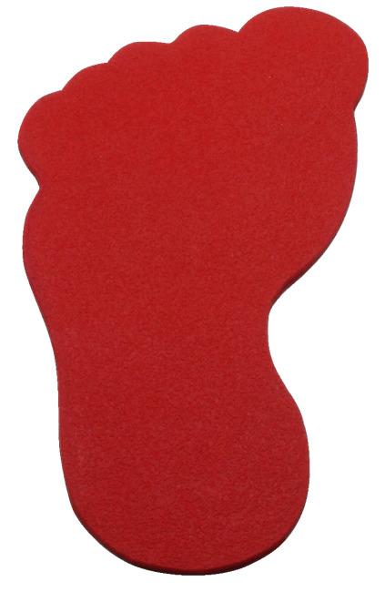 Sport-Thieme Bodemmarkering Voet, 20 cm, Rood