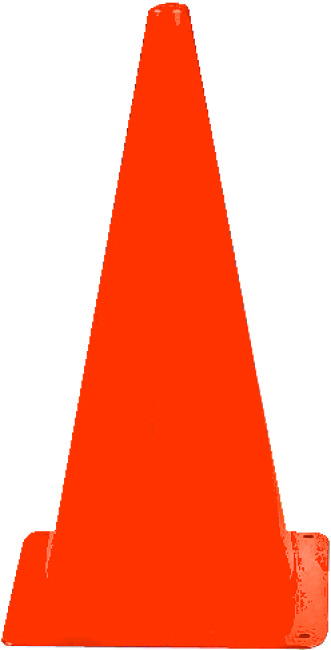 Sport-Thieme Markeringskegel 20,5x20,5x37 cm, Oranje