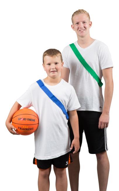 Sport-Thieme Teamband Volwassenen, L: 65 (130) cm, Groen