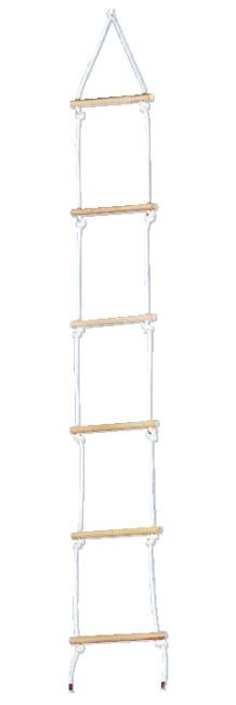 Sport-Thieme® Touwladder van Sisal Met 6 sporten, 2 m lang