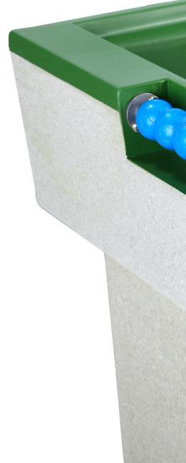 Table de baby-foot en béton polymère Vert