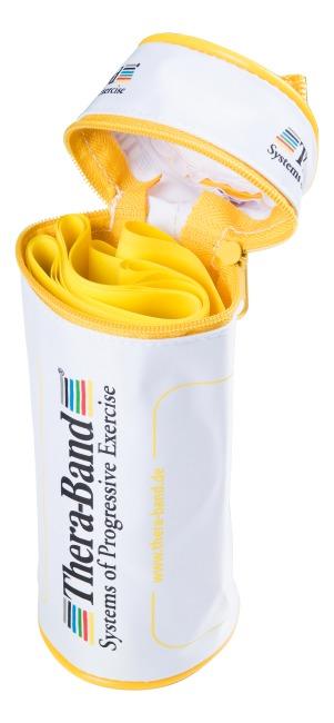 Thera-Band® 250 cm in opbergtasje met ritssluiting Geel, licht
