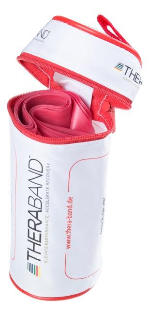Thera-Band® 250 cm in opbergtasje met ritssluiting Rood, medium