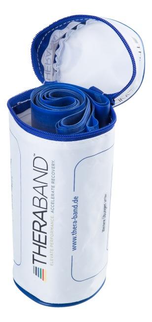 TheraBand 250 cm in opbergtasje met ritssluiting Blauw, extra sterk