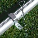 Système d'ancrage de sécurité Buts avec supports de filet rabattables