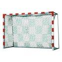 Filet pour but de handball avec motif échiquier Blanc-vert