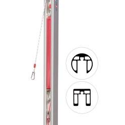 Reserve-spaninrichting katrol voor palen 80x80 mm en ø 83 mm