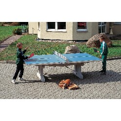 Sport-Thieme Table de tennis de table en béton polymère « Premium »  Pieds courts, autostable, Anthracite