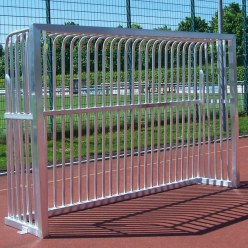 Sport-Thieme Volledig gelast trapvoetbaldoel 300x200x70 cm, Vierkantsprofiel 80x80 mm
