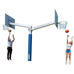 "Sport-Thieme® Basketbalinstallatie ""Fair Play Duo"""